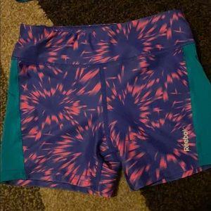 Reebok kids workout shorts and sports bra